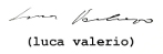 luca valerio name font 55 pt
